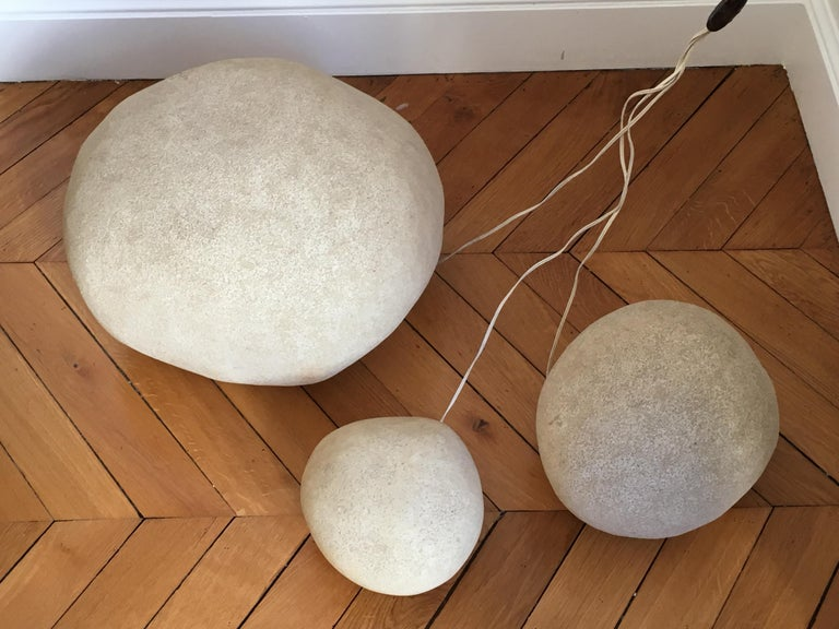 André Cazenave, Set of 3 'Dorra' Lamps, 1960s For Sale 1