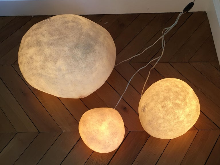 André Cazenave, Set of 3 'Dorra' Lamps, 1960s For Sale 2