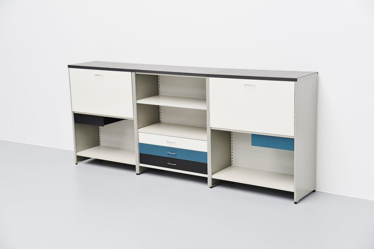 Lacquered Andre Cordemeijer 5600 Sideboard Gispen Culemborg, The Netherlands, 1962 For Sale
