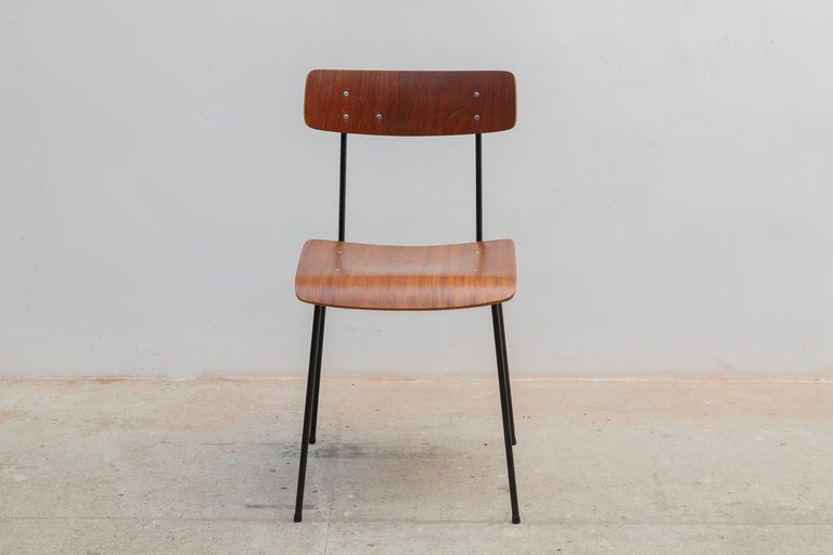 Mid-Century Modern André Cordemeyer Plywood Dining Chairs for Gispen, 1959 For Sale