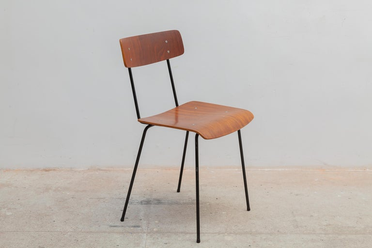 Dutch André Cordemeyer Plywood Dining Chairs for Gispen, 1959 For Sale