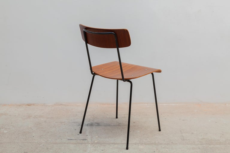 Hand-Crafted André Cordemeyer Plywood Dining Chairs for Gispen, 1959 For Sale
