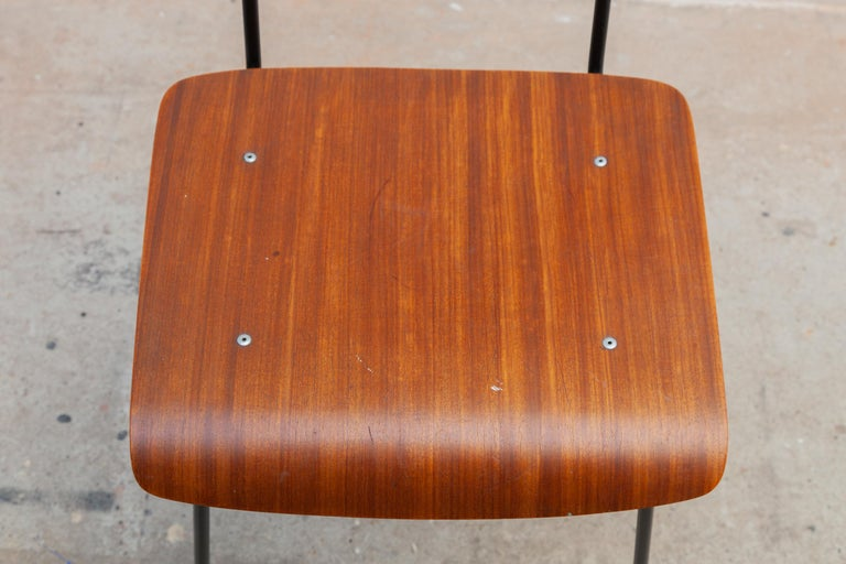 André Cordemeyer Plywood Dining Chairs for Gispen, 1959 In Good Condition For Sale In Antwerp, BE
