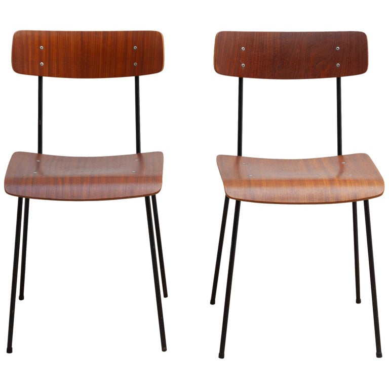 André Cordemeyer Plywood Dining Chairs for Gispen, 1959 For Sale
