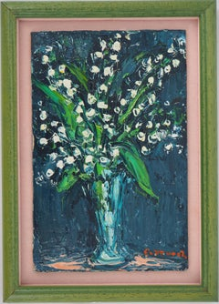 Lily of the valley - Original oil painting, Signed