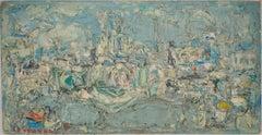 Paris : Seine River and Notre Dame Church - Original oil painting, Signed