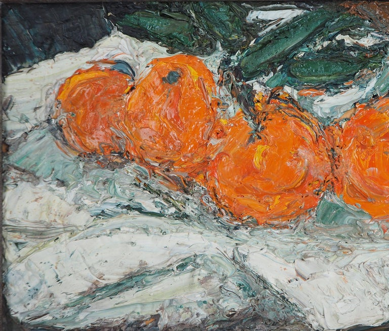 Still Life with Oranges - Original oil painting, Signed For Sale 1