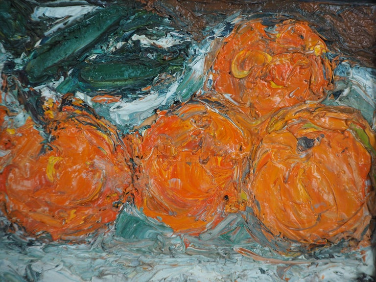 Still Life with Oranges - Original oil painting, Signed For Sale 3