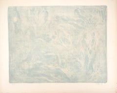 Nudes on Blue Background - Original Lithograph Handsigned Numbered