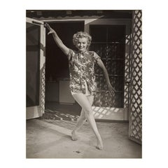 Marilyn Monroe at The Bel Air Hotel by André de Dienes -Vintage  Black and White