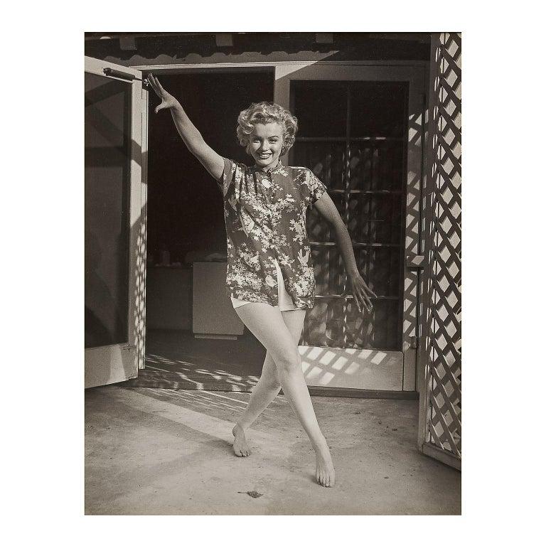 Andre de Dienes Portrait Photograph - Marilyn Monroe at The Bel Air Hotel by André de Dienes -Vintage  Black and White