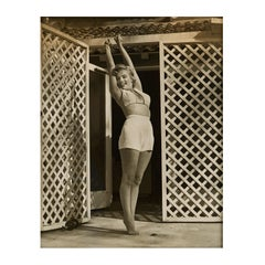 Marilyn Monroe by André De Dienes - 'Marilyn Stretching', Vintage Portrait - B&W