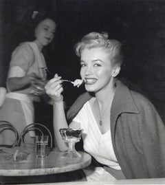Marilyn Monroe Eating Ice Cream Vintage Original Photograph