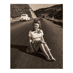 Marilyn Monroe ' Life on the Road' by André de Dienes- Vintage, Black and White