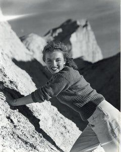 Marilyn Monroe 'Norma Jeane' Posing on Mountain Vintage Original Photograph