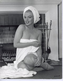 Marilyn Monroe Wrapped in Towel Vintage Original Photograph