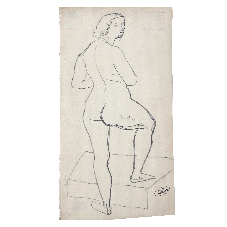 Andre Derain Female Nude Pencil Drawing