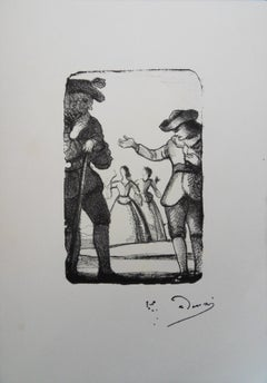 After the Departure of the Ladies - Original Lithograph #Mourlot 1950