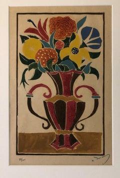 Bouquet de Fleurs dans un Vas - 1940s - André Derain - Xilograph - Modern