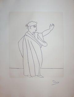 Caesar - Original etching - 1951