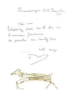 Composition - Original Lithograph after André Derain -1982