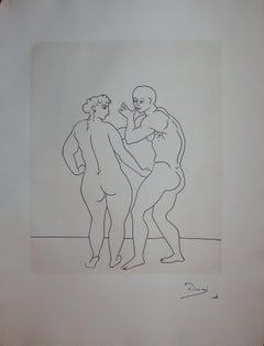 Seducting Couple - Original etching - 1951