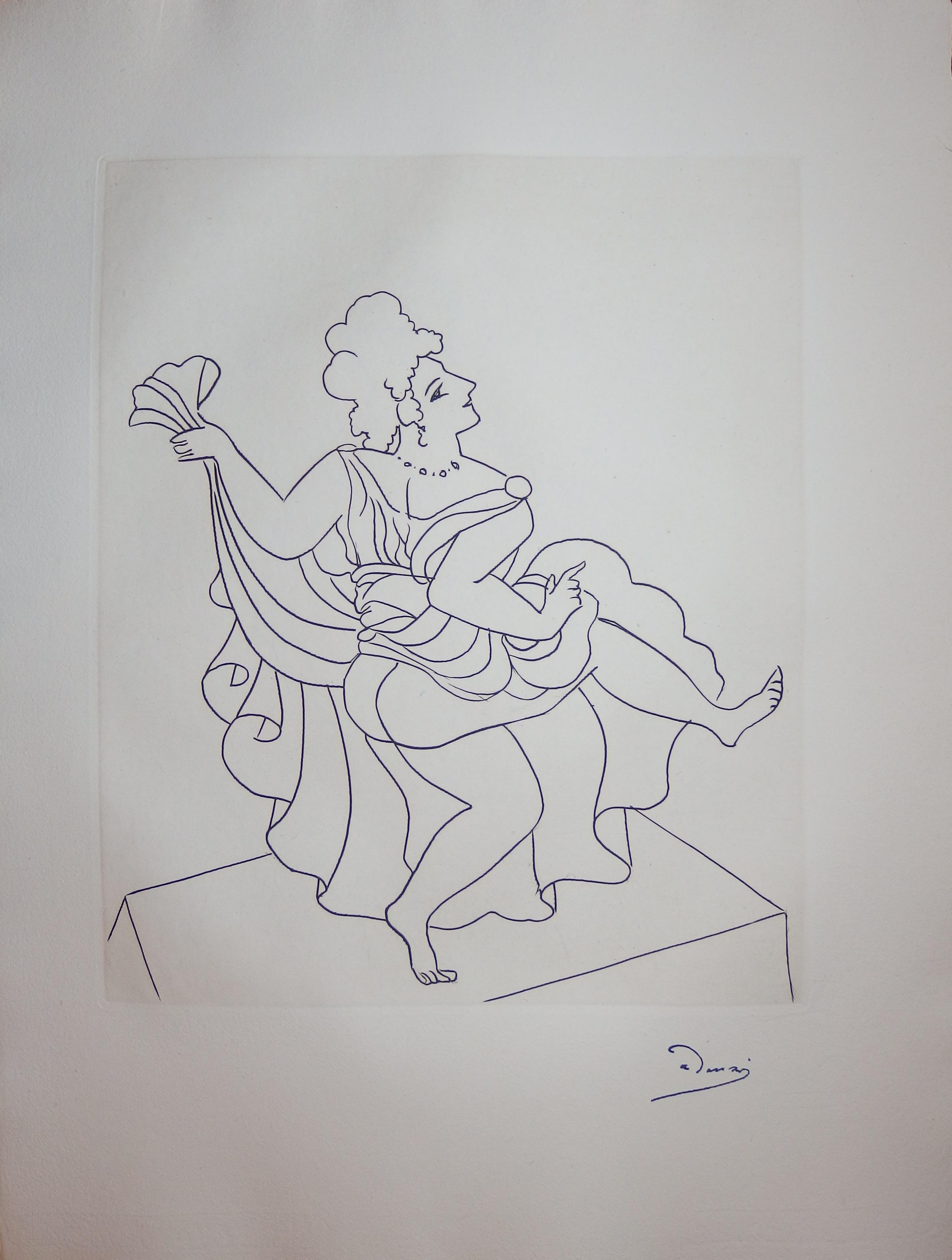 Seductive Dancer - Original etching - 1951