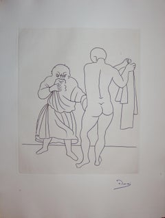 The Examination - Original etching - 1951