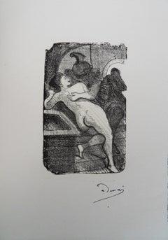 The Kiss - Original lithograph, Mourlot 1950