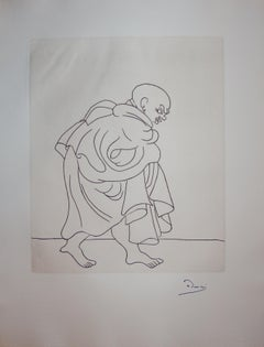 The Schemer - Original etching - 1951