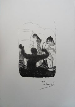 Two Nudes Surprised - Lithograph, Mourlot 1950