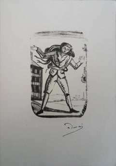 Young Man Travelling - Lithograph # Mourlot 1950