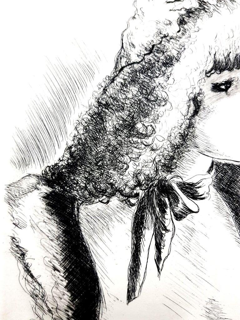 André Dignimont - Belle Epoque Portrait - Original Etching For Sale 1