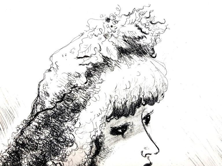 André Dignimont - Belle Epoque Portrait - Original Etching For Sale 2