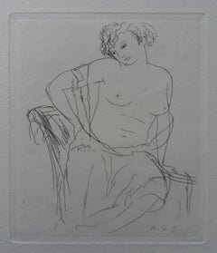 Dressing Model - Original etching, 1943