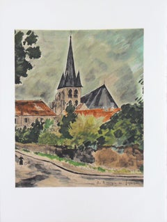 Small Village - Stone lithograph - Mourlot 1965
