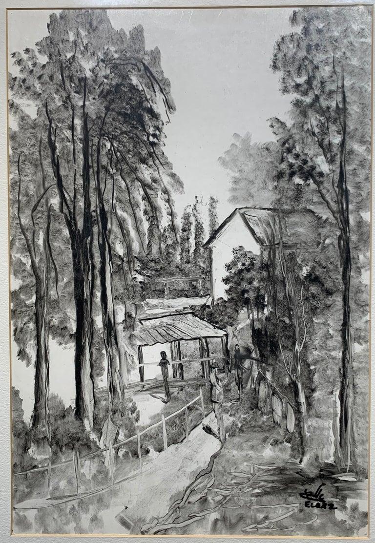 Andre Elbaz Landscape Painting - Landscape