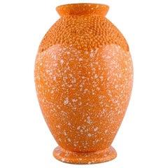 Andre Fau for Boulogne, Art Deco Vase in Glazed Ceramics, 1940s