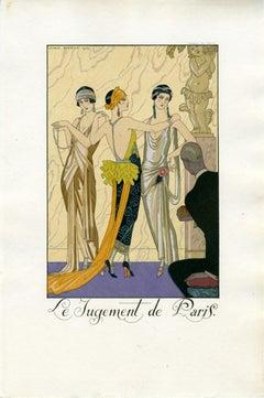 """""""Le Jugement de Paris (from Falbalas et Fanfreluches)"""" Vintage Pochoir Plate"""