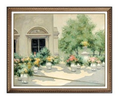 Andre GISSON Original OIL PAINTING On CANVAS Signed French Floral Artwork LARGE