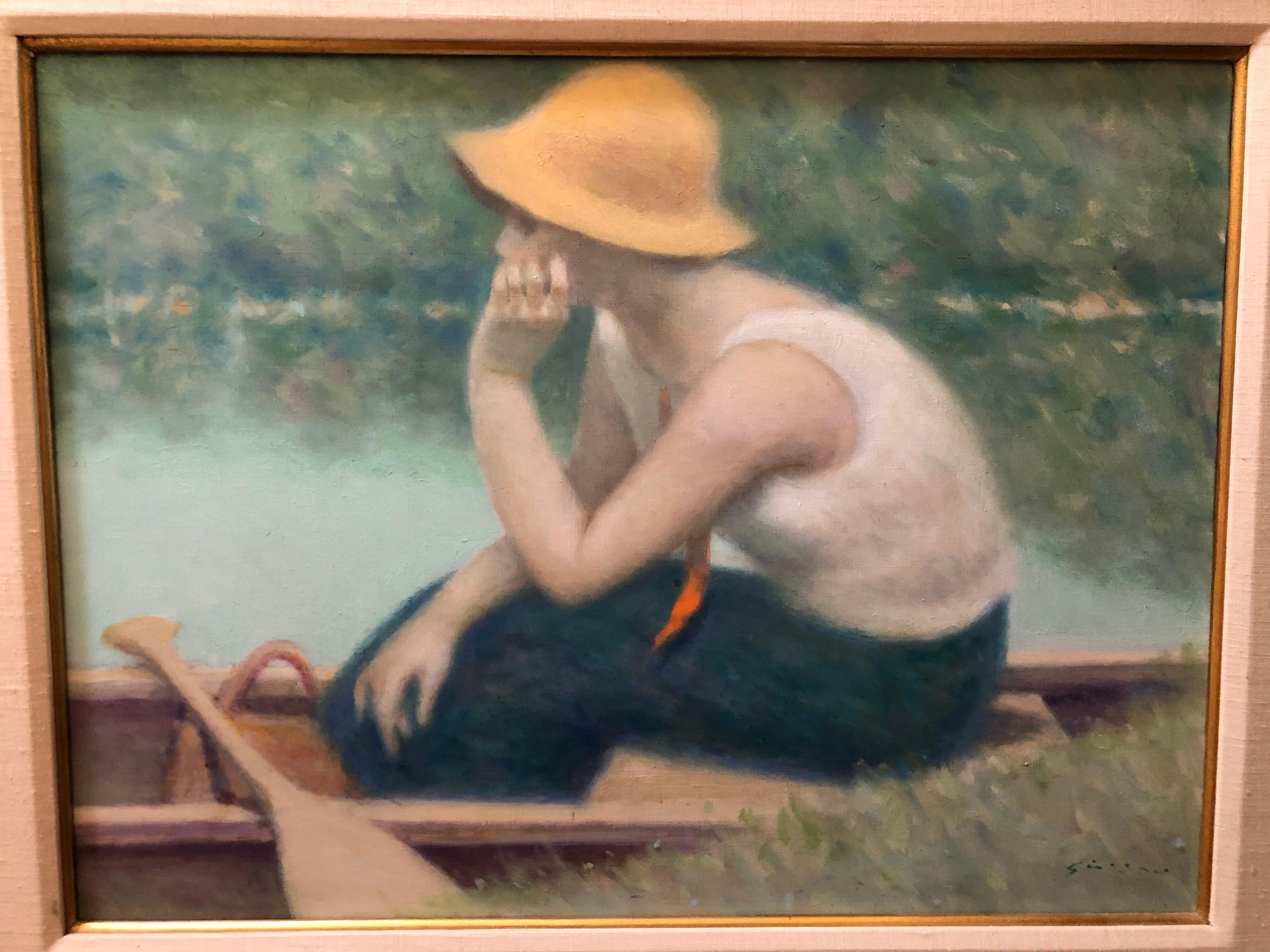 Andre Gisson Woman on a Lake