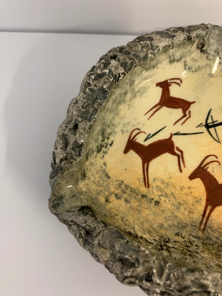 Hand-Crafted Andre Guiron Vallauris Lascaux Pottery For Sale