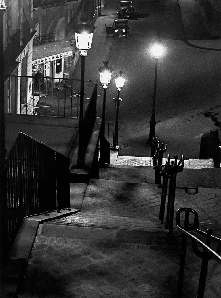 Andre Kertesz Black and White Photograph - The Daisy Bar, Montmatre, Paris
