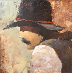 "Andre Kohn.""John Z. Ranchkeeper series."" Original Western Oil & Mixed Media."