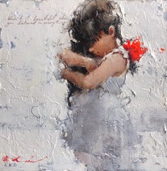 """""""Esquisse on the theme of Rouge et Noir"""" by Andre Kohn. Figurative Impressionist"""