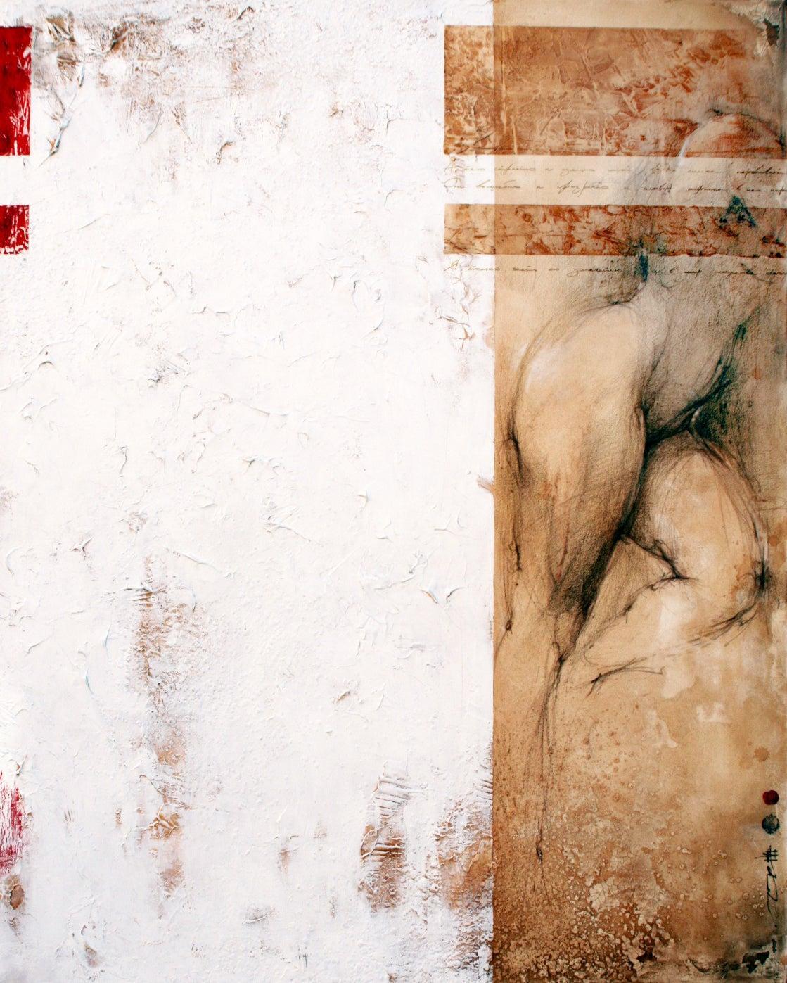 Large Original Modern Contemporary Figurative Abstract Nude Woman Figure 60X48