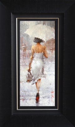 On the theme of white by Andre Kohn. Original Modern Impressionist Oil Painting