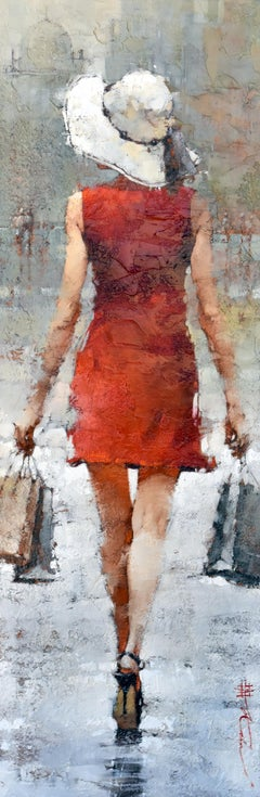 "Andre Kohn. ""Retail Therapy"" Limited Edition Giclee Canvas Print. 60"" x 20""."
