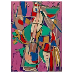 André Lanskoy, Abstract Composition, Lithograph on Arches Paper, Framed