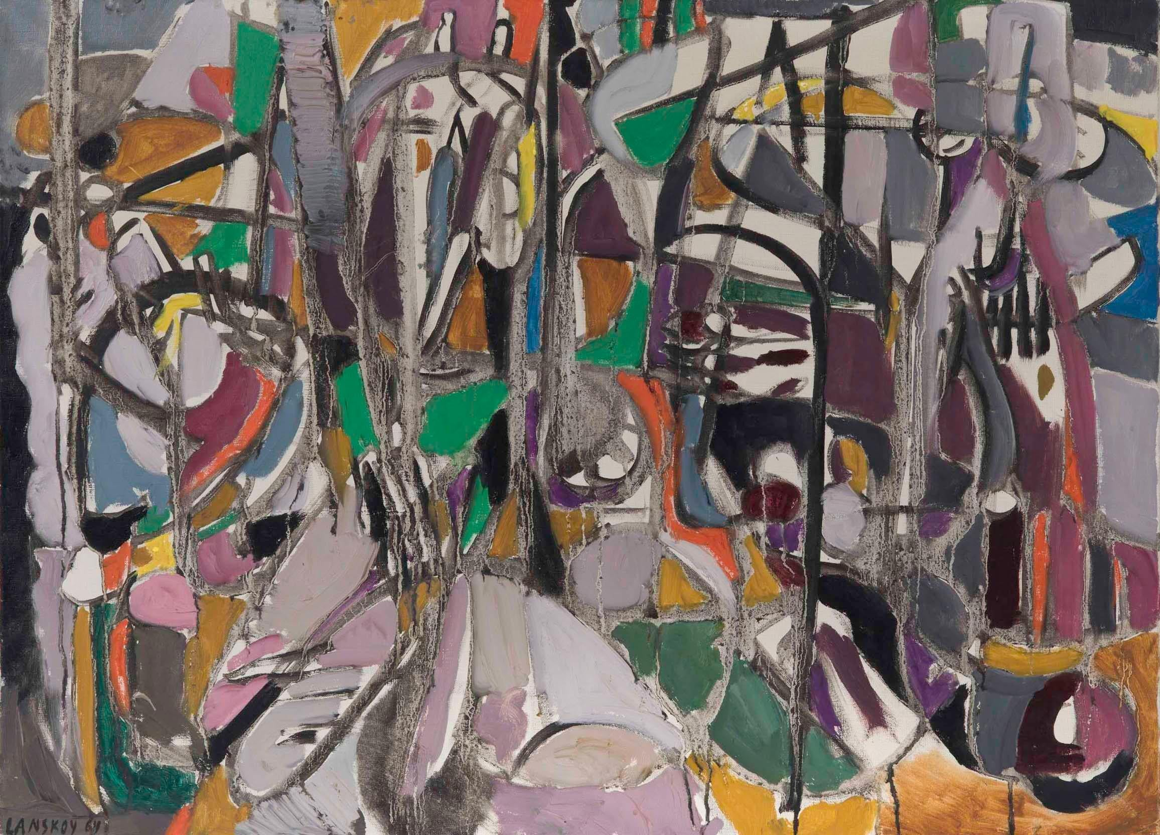 Andre Lanskoy - Composition, modern, abstract, painting, french, colourful